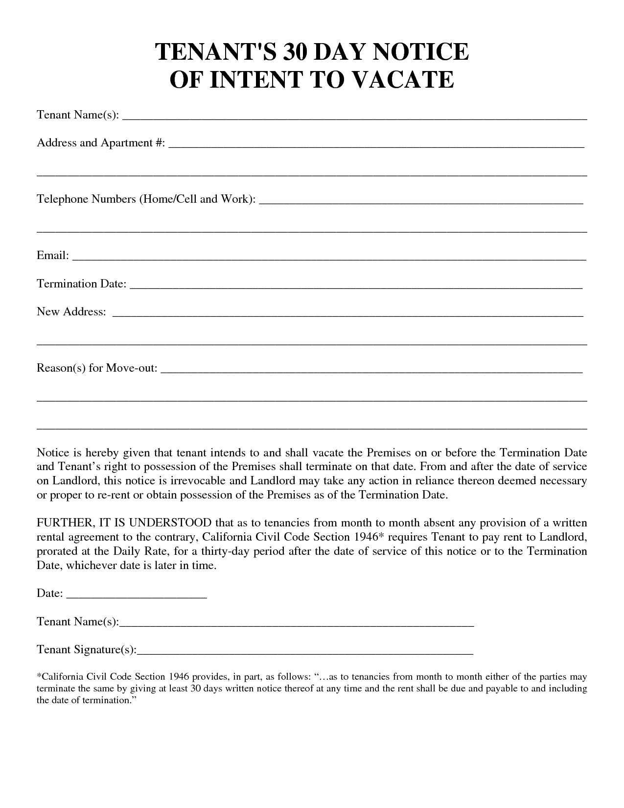 post 30 day notice template 360531