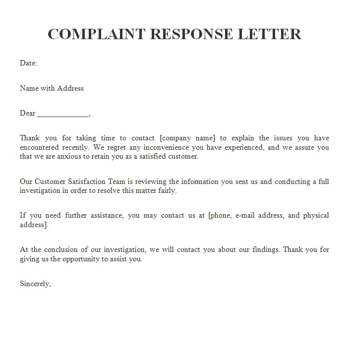 Replying to A Complaint Letter Template Complaint Letters Archives Free Sample Letters