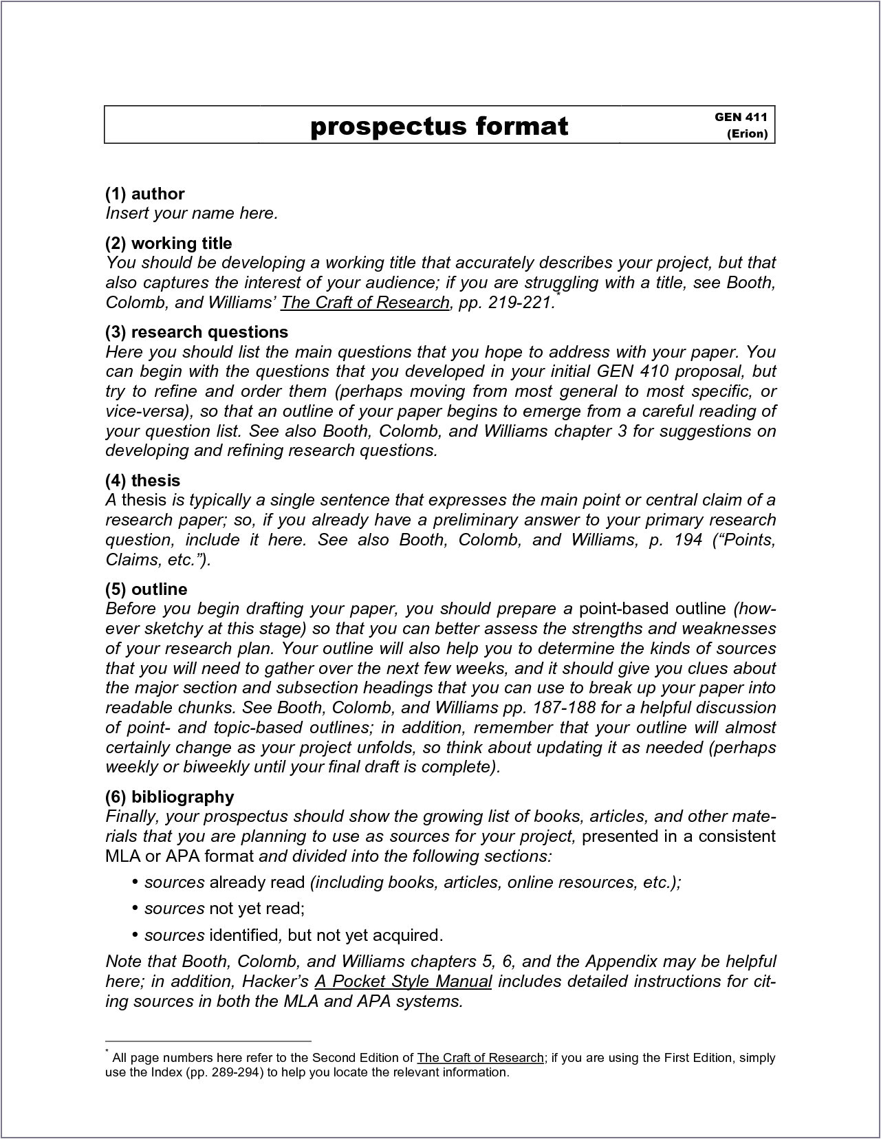 Research Prospectus Template Example Of Research Prospectus Paper