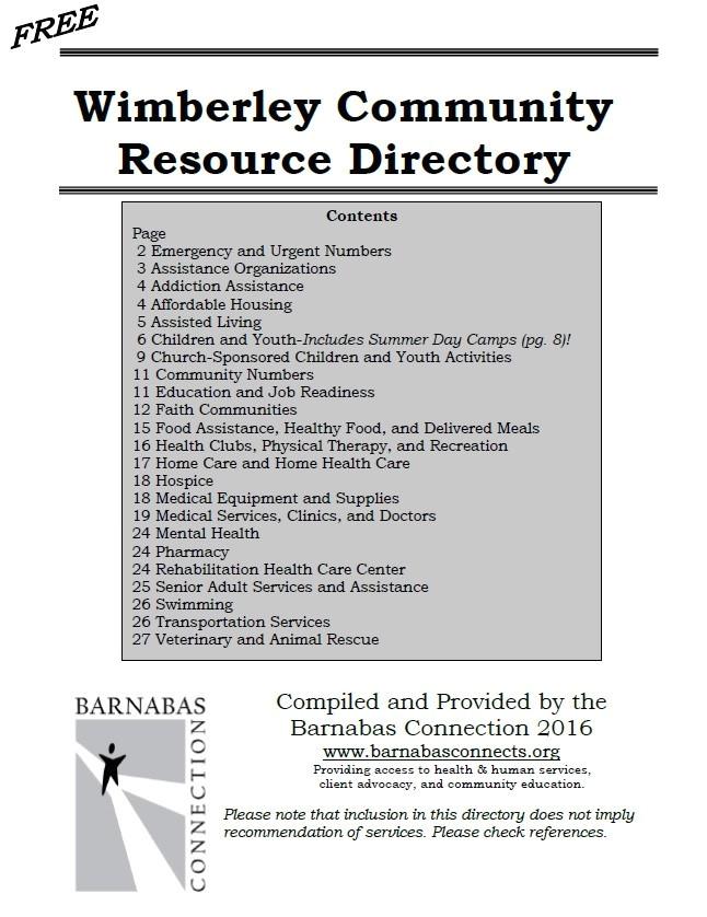 2016 wimberley community resource directory updated