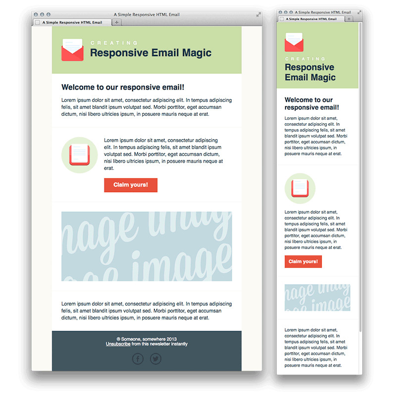 5 responsive newsletter templates
