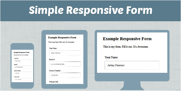 how to make simple responsive form for a website