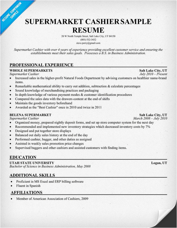 Resume Sample for Cashier at A Supermarket Sample Eulogy Examples Help Write A Speech Your Tribute