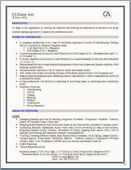 sample resume for freshers