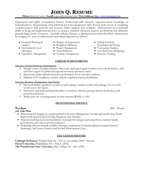 professional resume template download 4374