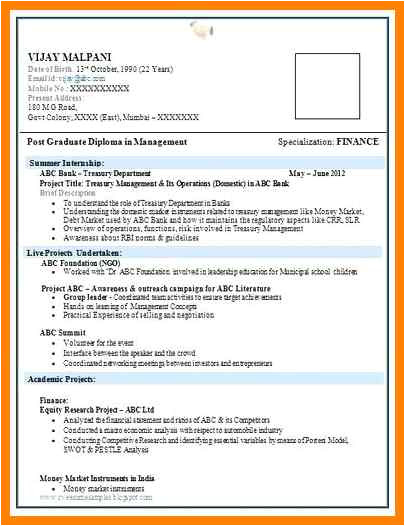 7 fresher resumes free download