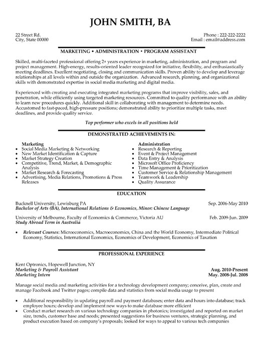 Resume Samples for Marketing Professionals top Marketing Resume Templates Samples