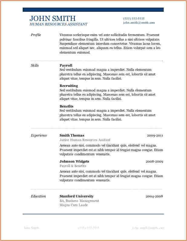 13 microsoft word 2007 resume templates