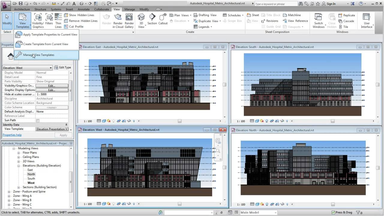 Revit Template Download Free Autodesk Revit Using View Templates Youtube