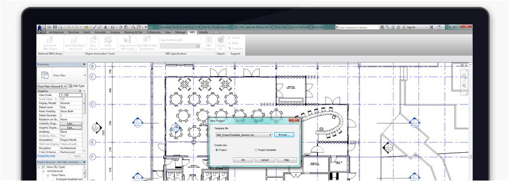 nbs templates for autodesk revit