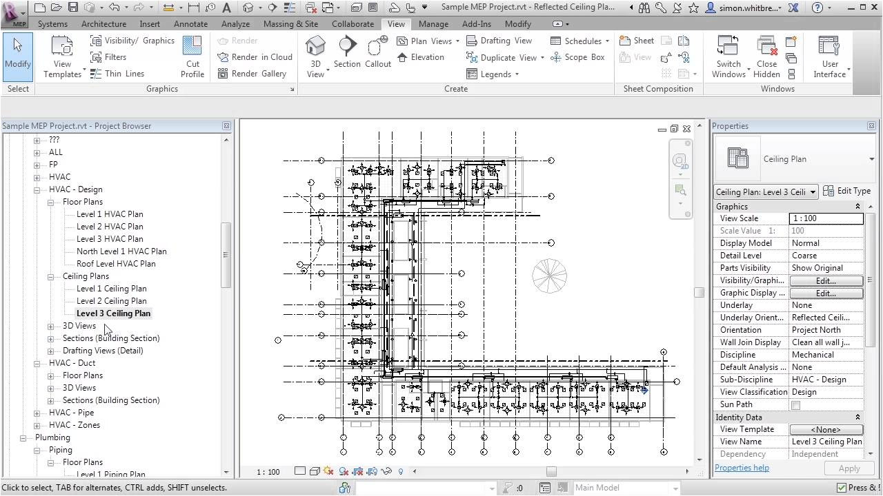 Revit Template Download Free Revit Mep 2013 Tutorial View Templates Youtube