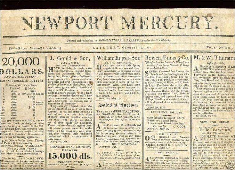 war 1812 my voice is still for war the newport mercury october 12 1811 newspaper