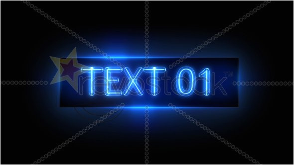 36986 neon sign after effects project revostock