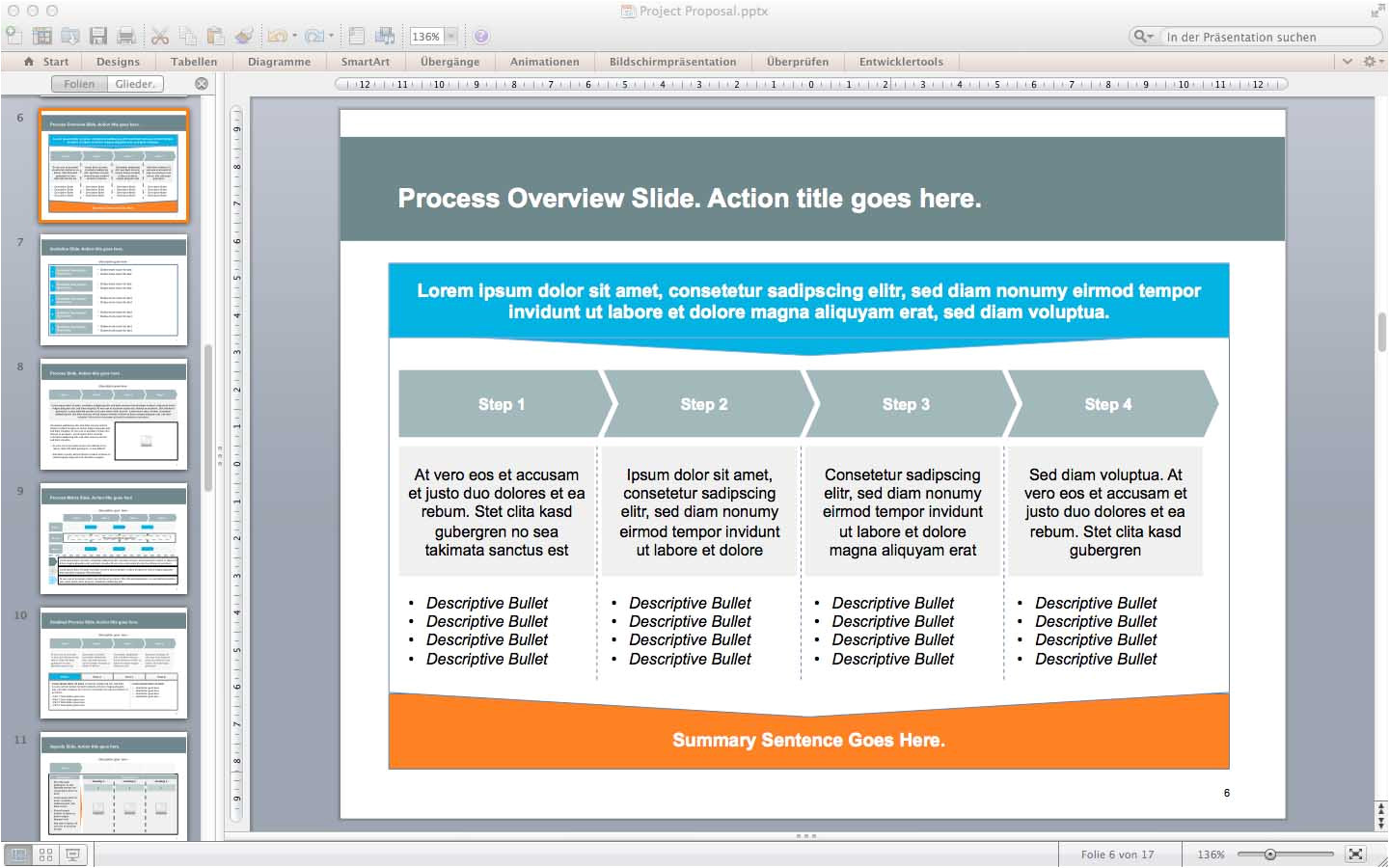 4610 project proposal powerpoint template