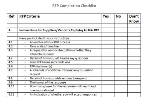 rfi rfp rfq templates