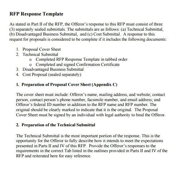 Rfp Questions Template Rfp Response Template Word Response to Rfp Samples Luxury