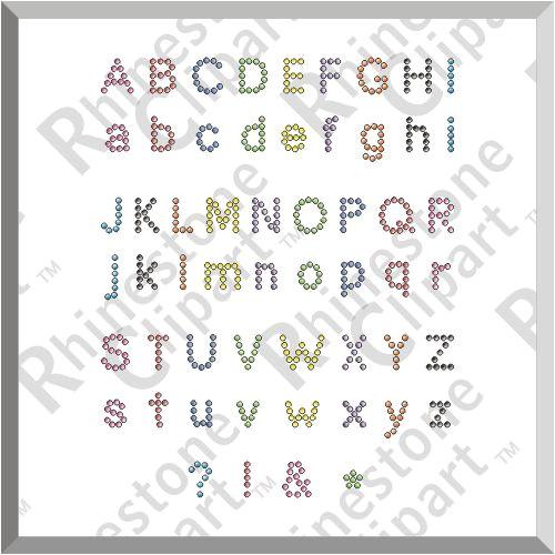 post rhinestone font template 81782