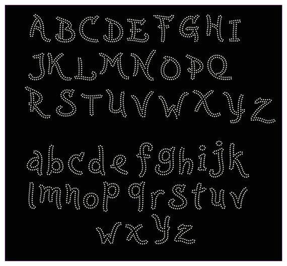Rhinestone Alphabet Templates Downloadable Rhinestone Alphabet Template Make the Cut