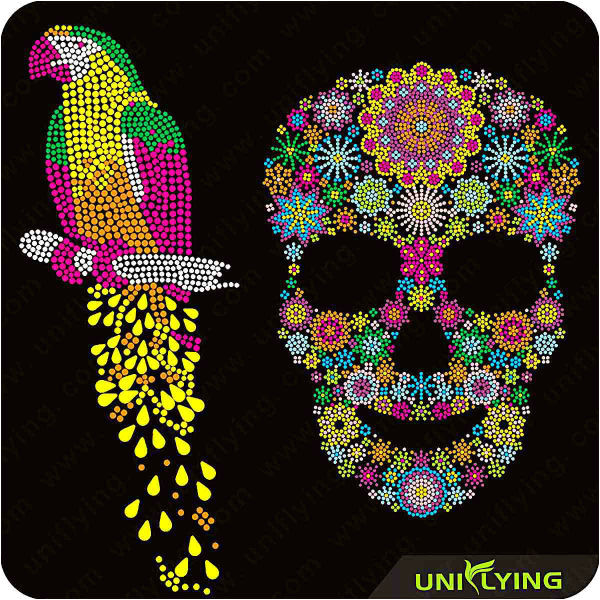 special skull hotfix rhinestone templates for 60280564856