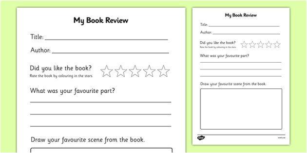book review template ks1