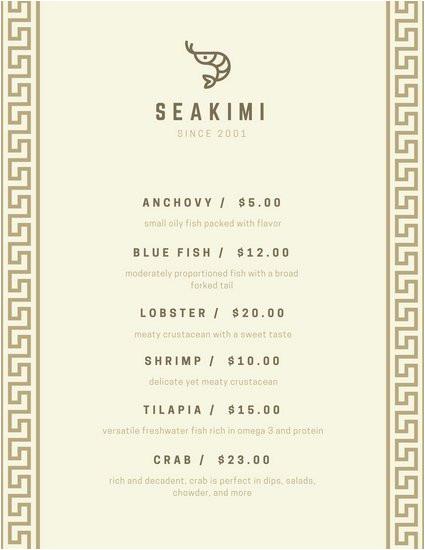 macsxfw1sz4 beige roman border seafood menu