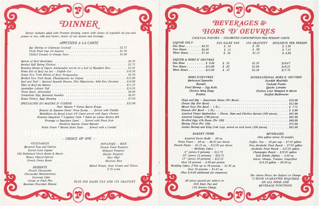 poor roman food menu