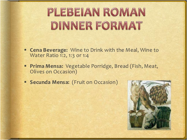 Roman Menu Template Roman City Dig Session 9 2012 Nutrition In the Ancient