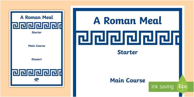 Roman Menu Template Roman Menu Template Roman Menu Template Roman Food Roman