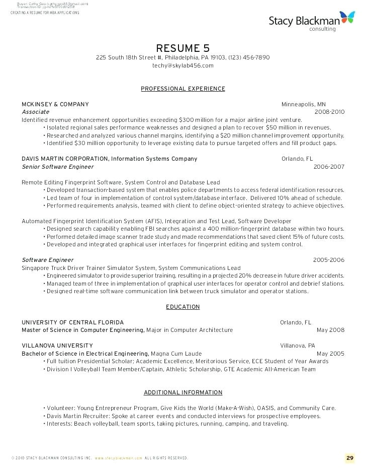 ross school of business resume template