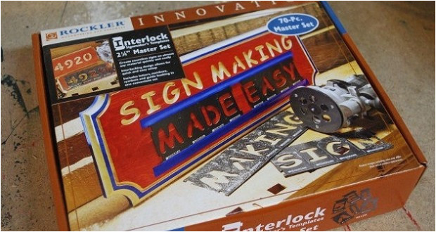 deluxe interlock sign making kit by rockler review