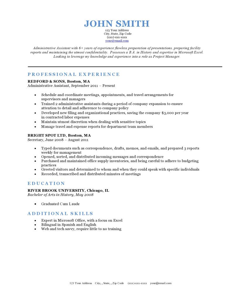Rsume Template Expert Preferred Resume Templates Resume Genius