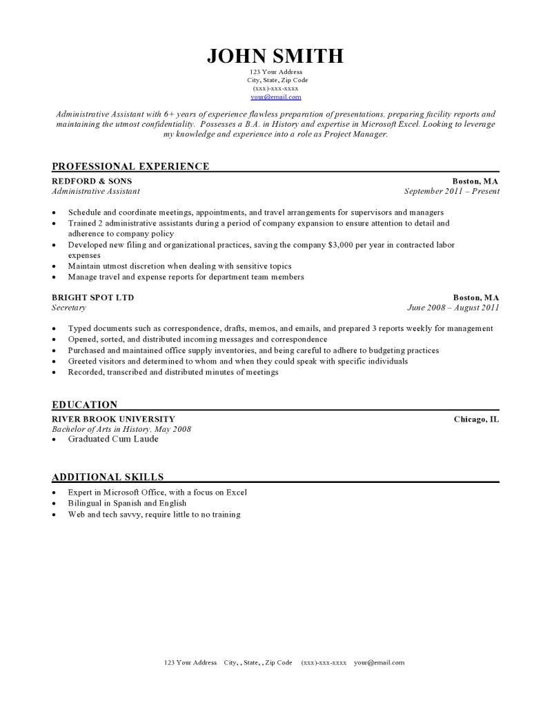 Rsume Template Expert Preferred Resume Templates Resume Genius