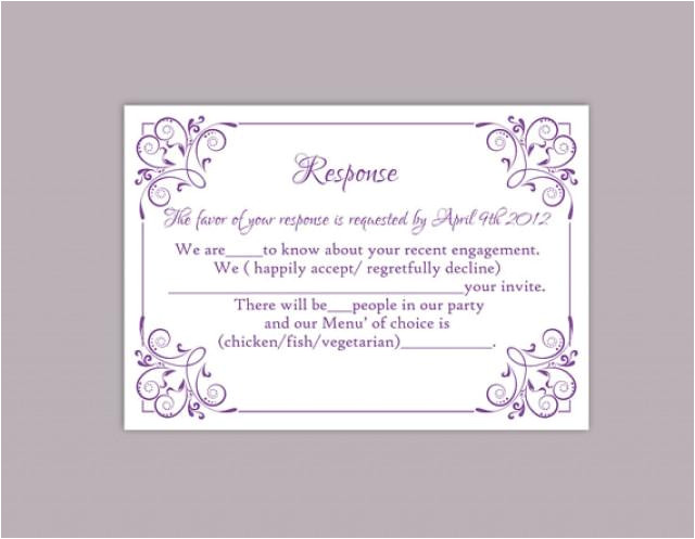 diy wedding rsvp template editable text word file download printable rsvp cards lavender rsvp card template purple rsvp card