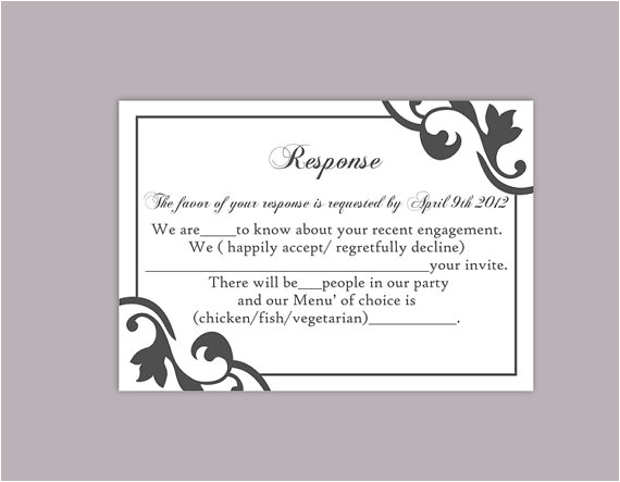 diy wedding rsvp template editable text word file instant download rsvp template printable rsvp cards black rsvp card template elegant rsvp