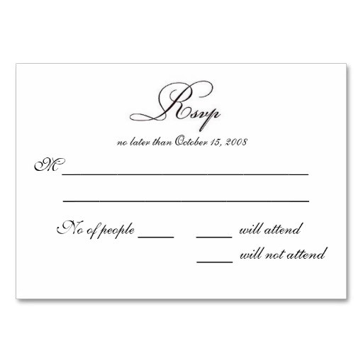 free printable wedding rsvp card templates 5637