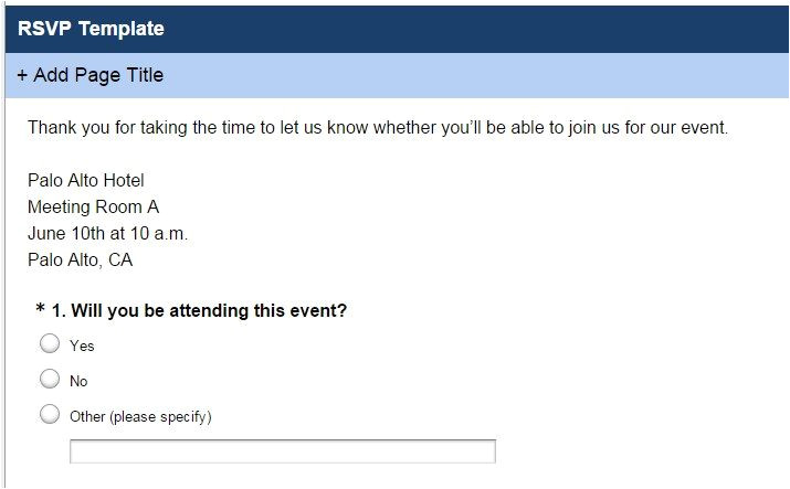 event satisfaction survey questions