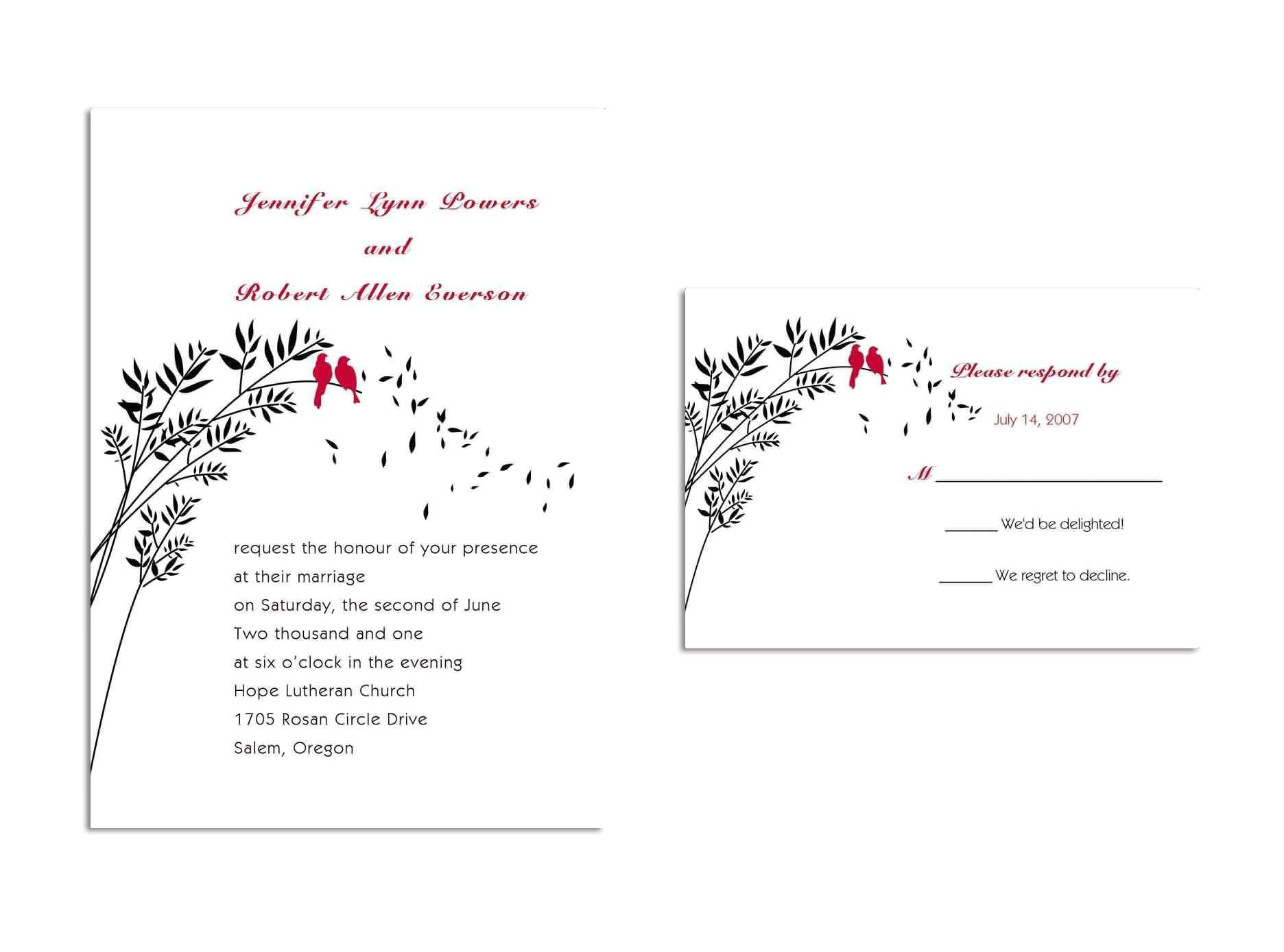 rsvp card template word