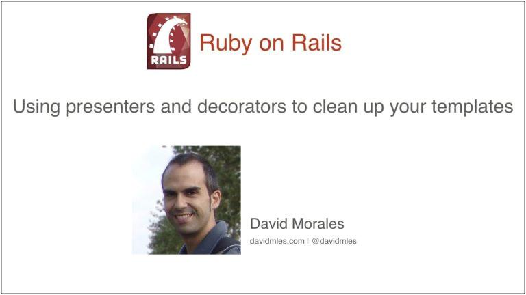 presenters decorators rails