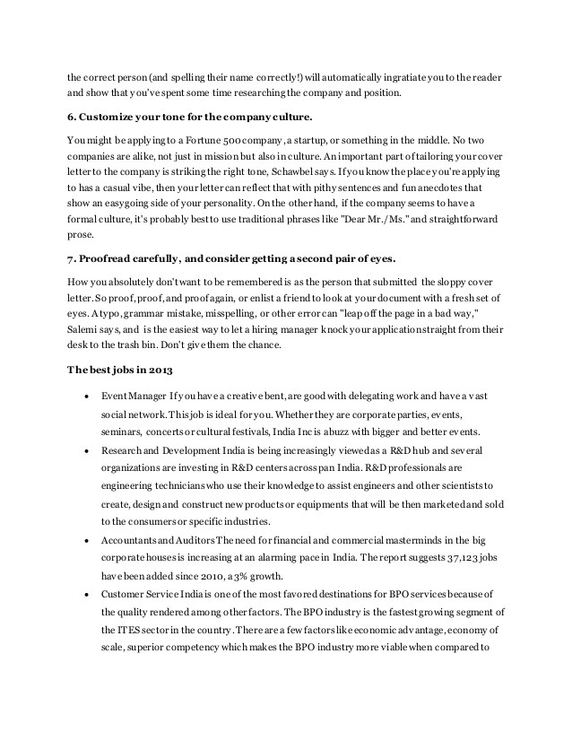 Rules for Cover Letters 7 New Rules for Writing the Perfect Cover Letter