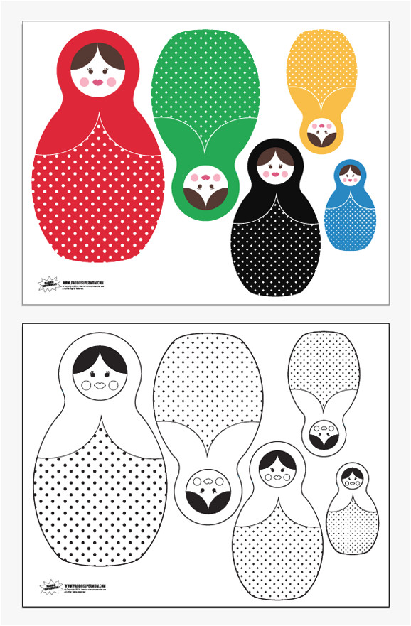 printable russian nesting dolls