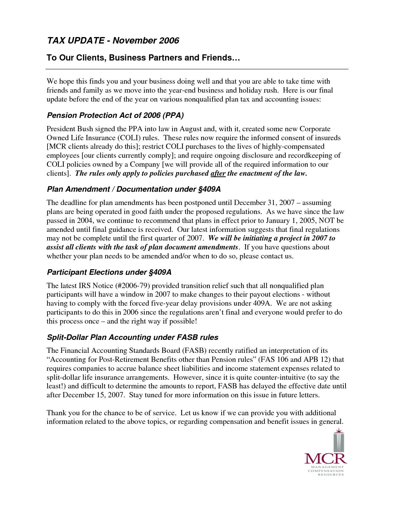 accounting memo template