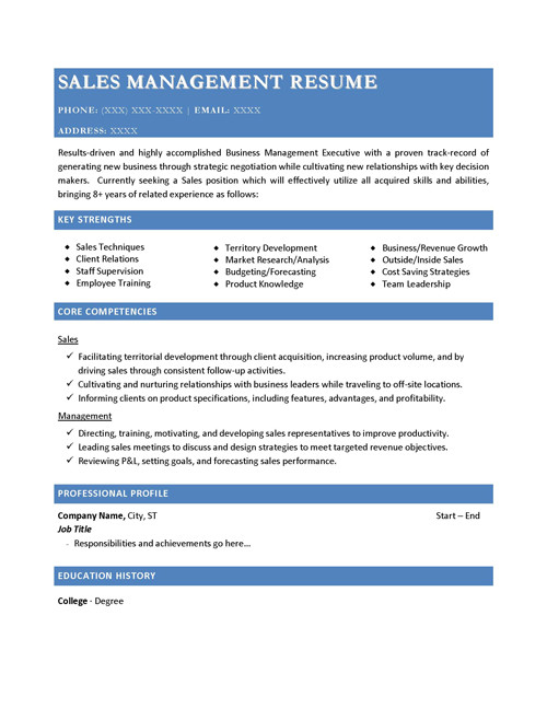 sales management tools templates