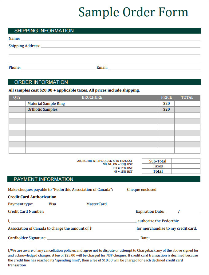 sales order template