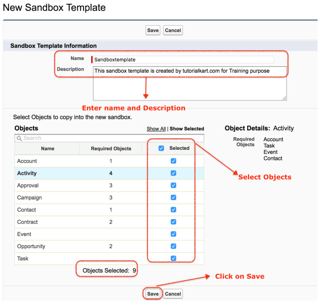 Salesforce Sandbox Template How to Create Salesforce Sandbox Template