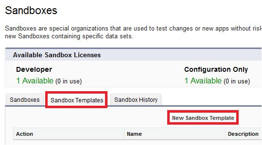 sandbox templates in salesforce comment form