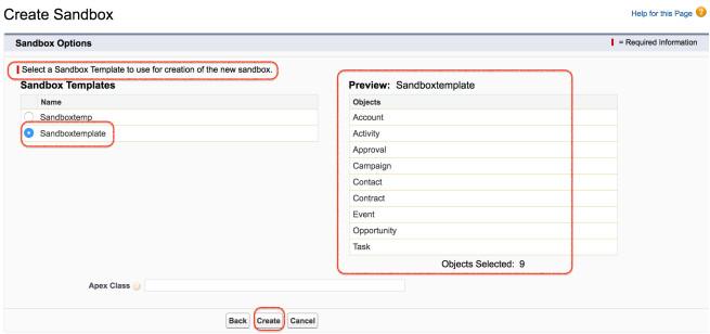 how to create salesforce sandbox