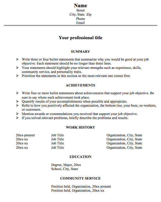 achievement resume format for big resume problems