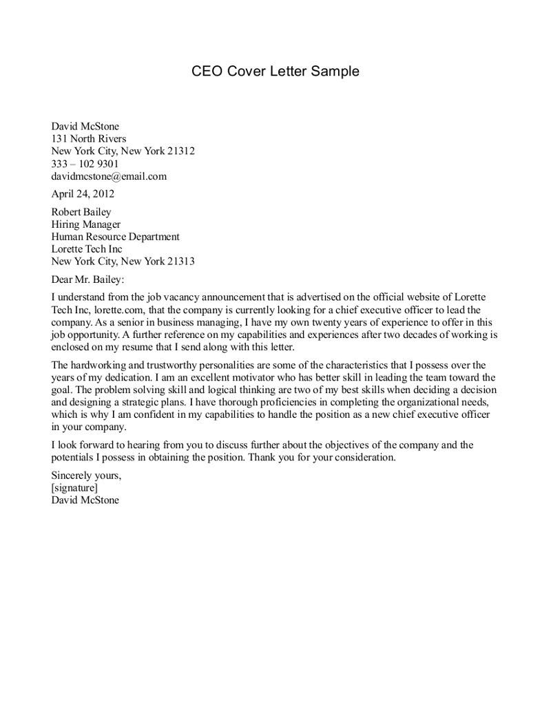 Sample Cover Letter for Ceo Position Cover Letter for Ceo Role Granitestateartsmarket Com