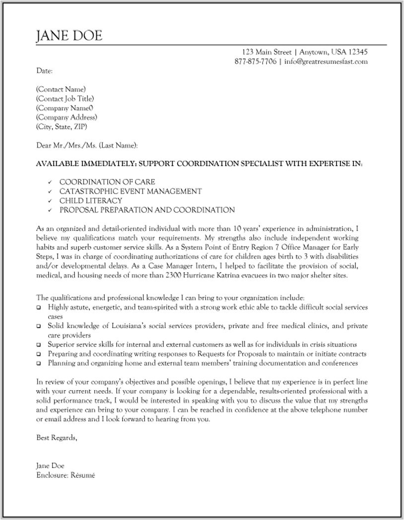 sample resume cover letter for executive director position 4605