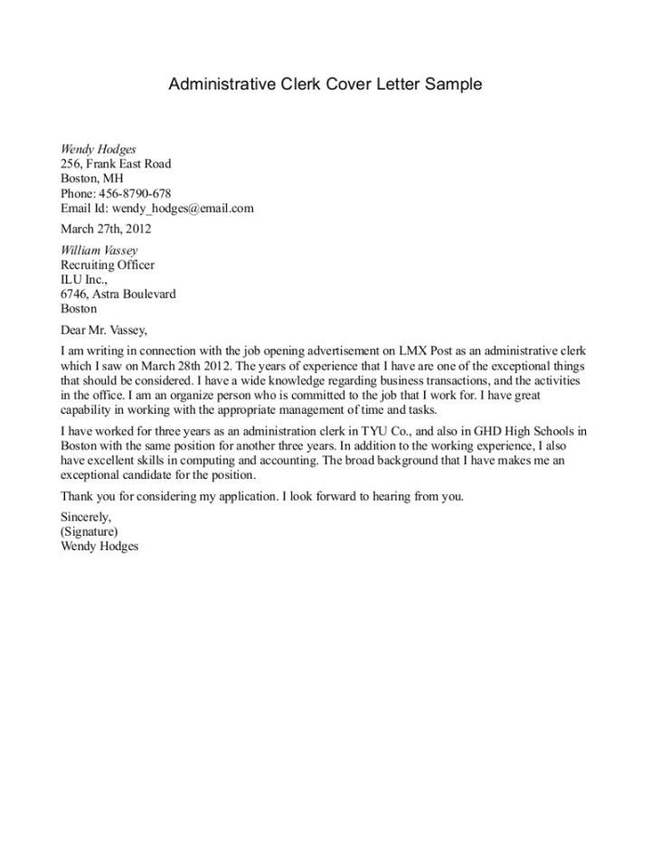 Sample Cover Letter for Clerical assistant 40 Best Images About Letter On Pinterest Good Cover